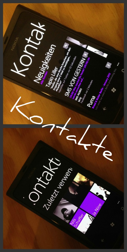 Kontakte Mix Nokia Lumia 800 x iPhone 4S (URBAN RMX)