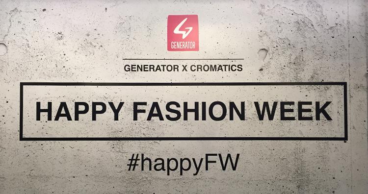 GENERATOR x CROMATICS #happyFW