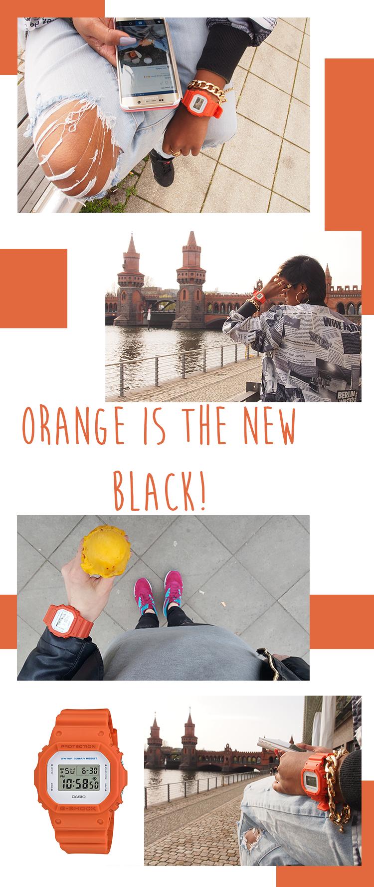 02 G-Shock CLEAN STYLE Orange